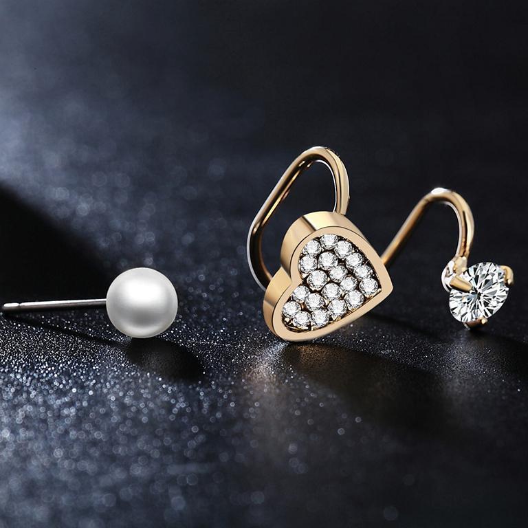 Golden Heart - Ear Cuff Set