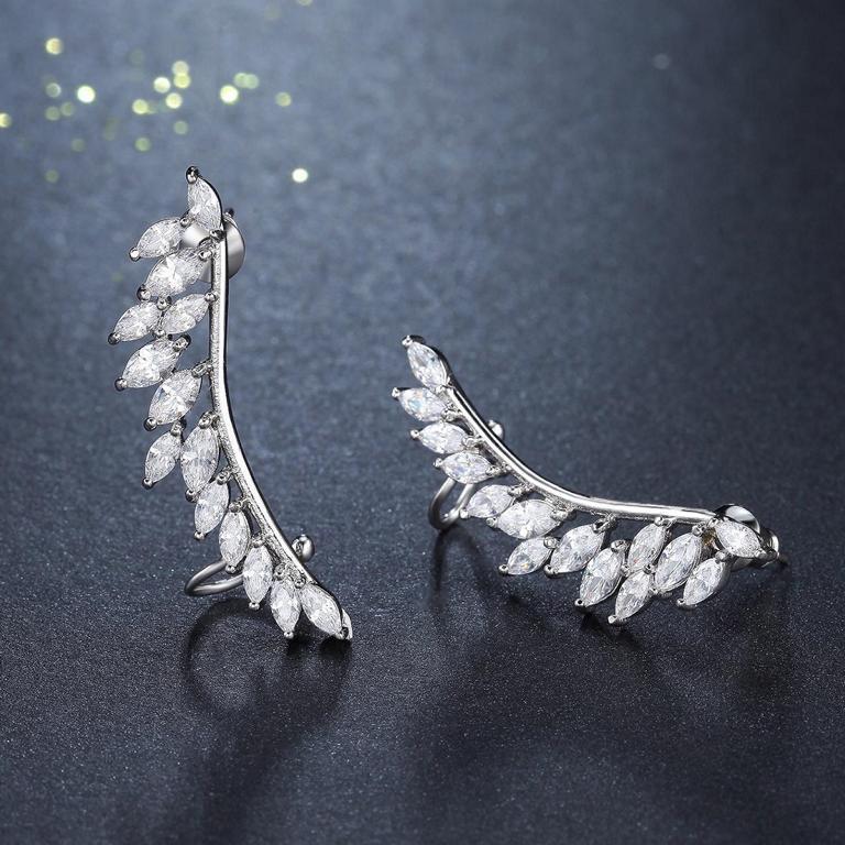 Angel Wing - Zirkon Ohrklammer
