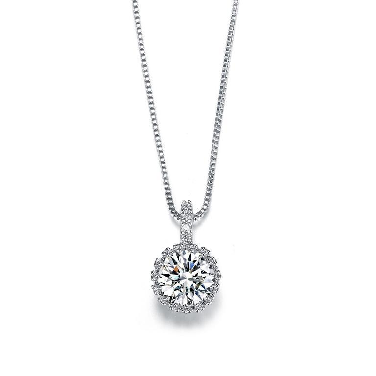 Sparkle Zirconia - Halskette/925 Silber