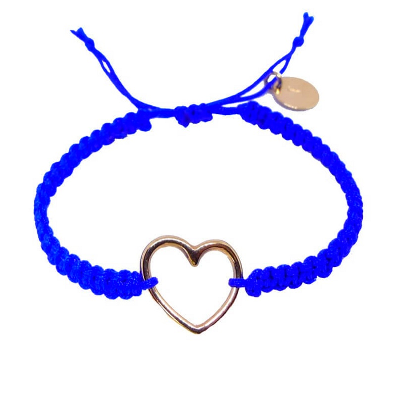 Roségold Heart - Makramee Armband