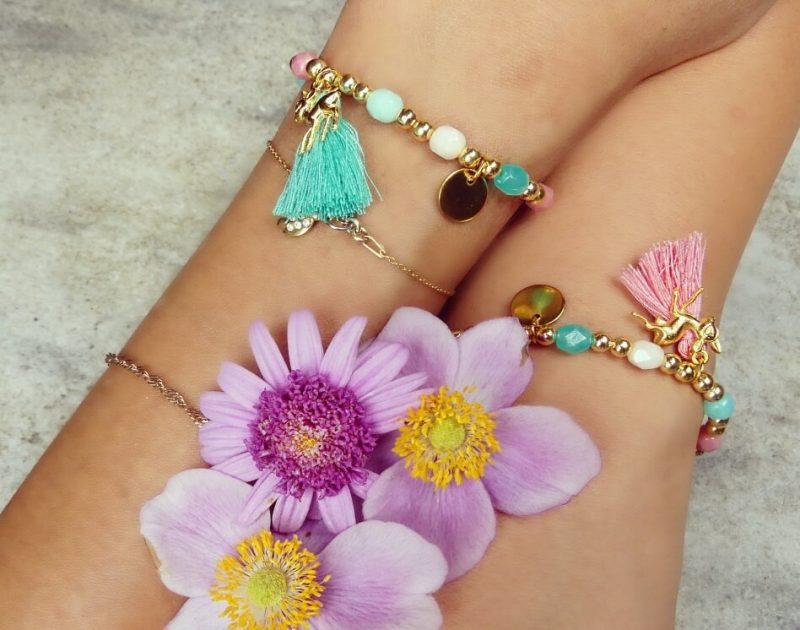 'Ibiza Glam Türkis' Armband