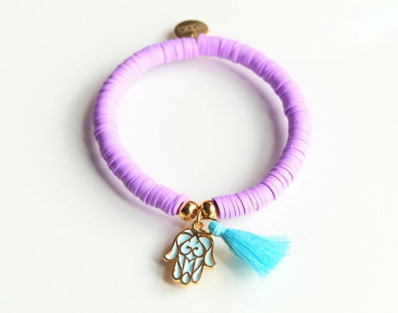 'Purple Hamsa' Armband