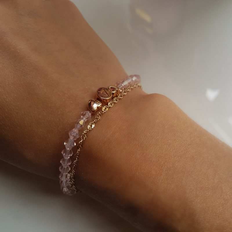 Individuell Light Rosé Armband