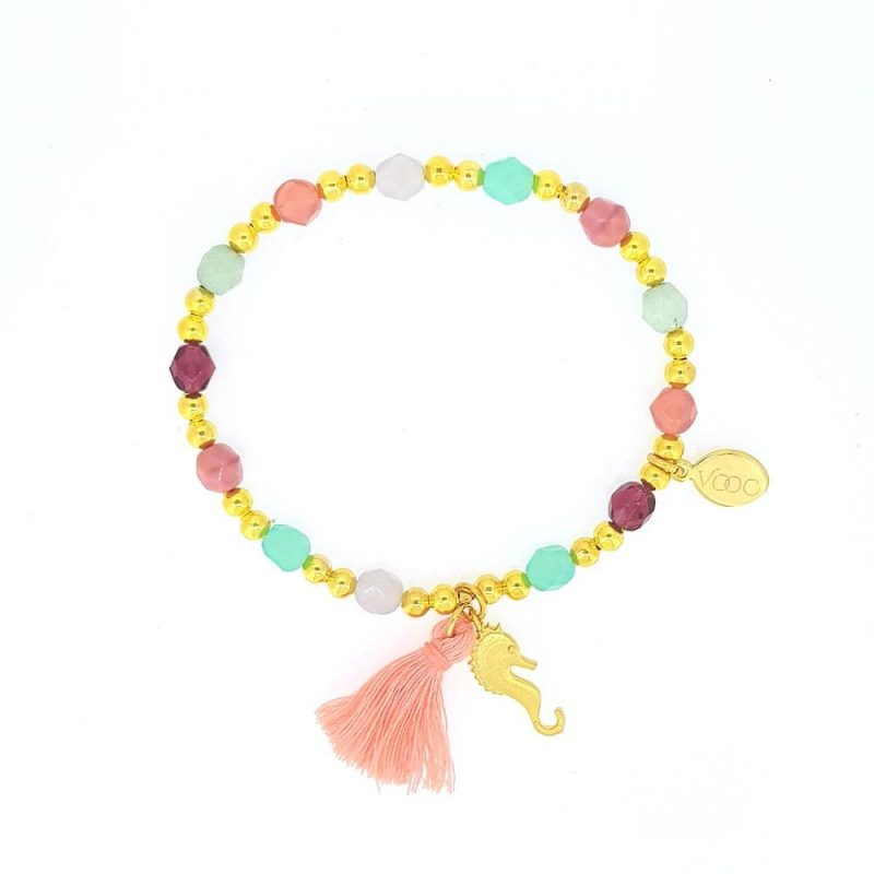 Aqua Glam Rosa - Armband