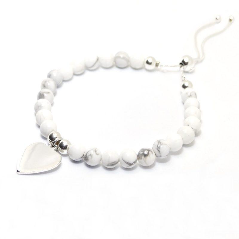Marble Howlith - Armband 925 Silber