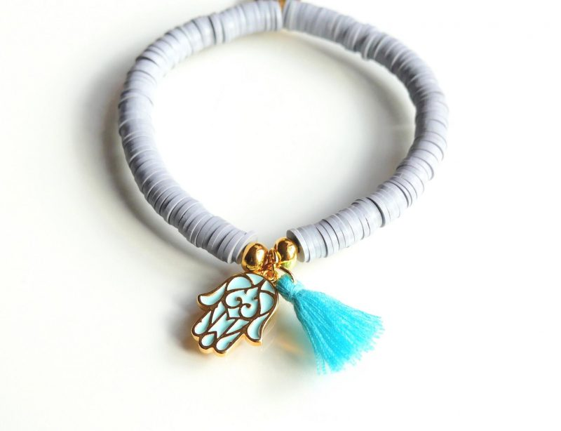 'Grey Hamsa' Armband