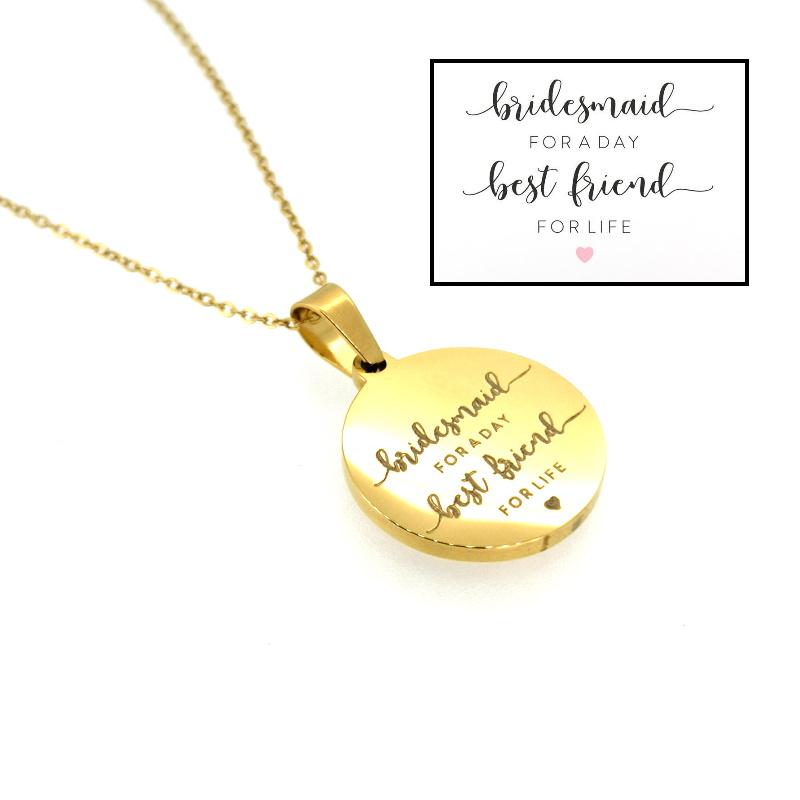 DEINE GRAVUR - Plättchenkette Gold