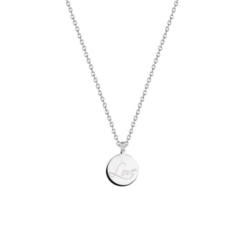 LOVE - Gravur Kette 925 Silber