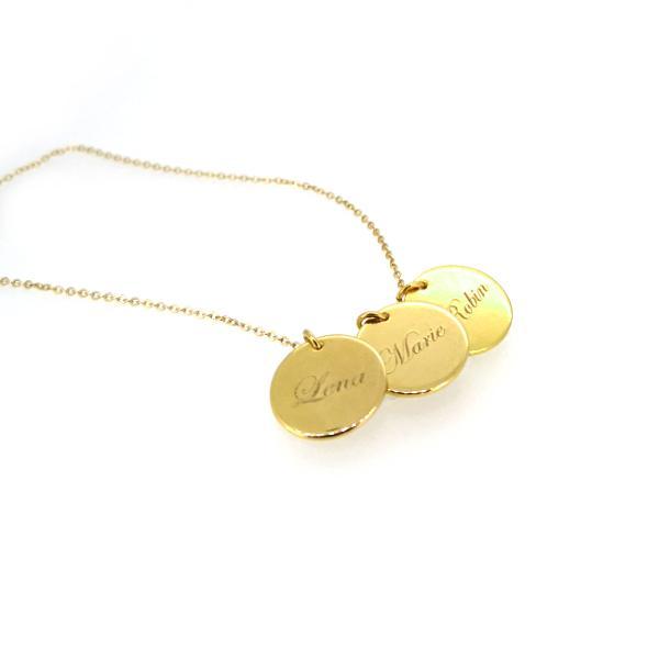 DEINE GRAVUR - Multi Plättchenkette Gold