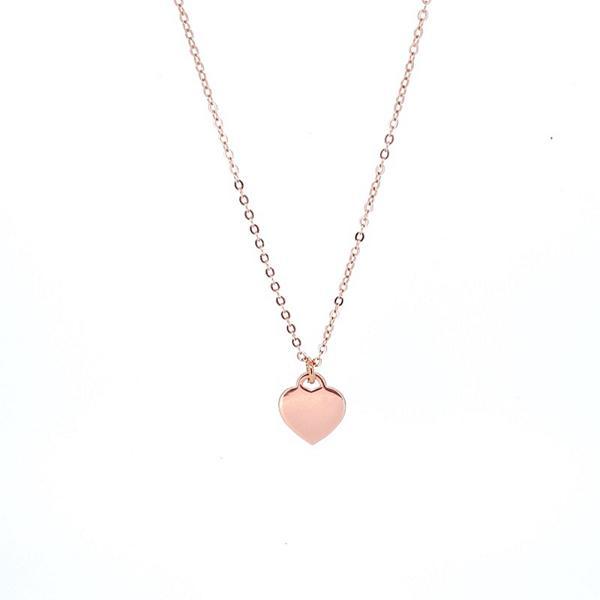 Herzkette -'Big Heart' 925 Silber/Roségold