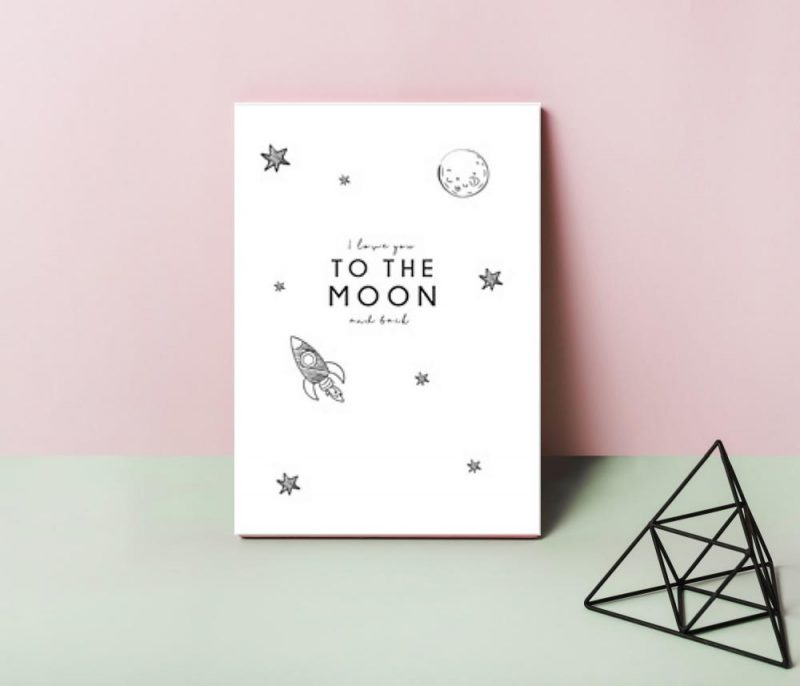 Geschenkkarte 'to the moon and back