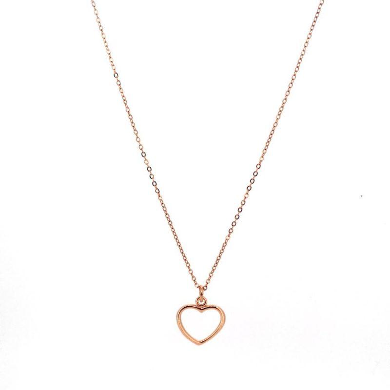 Single Heart - Halskette 925 Silber