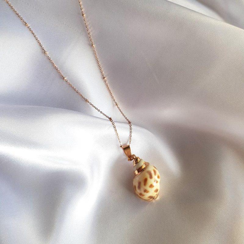 Muschel Halskette - Roségold