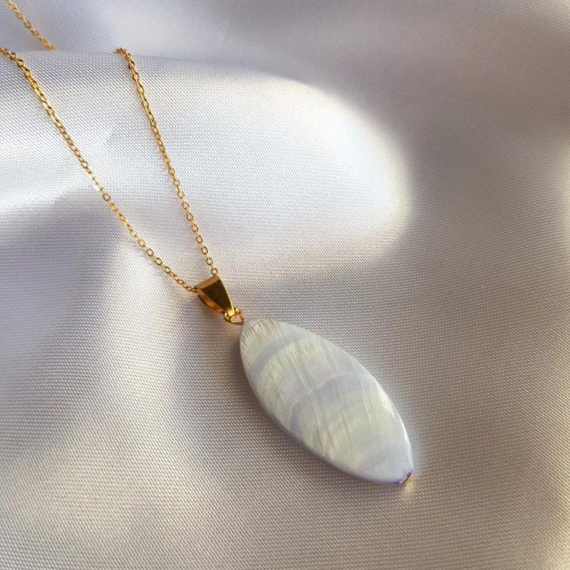Perlmutt - Muschel Halskette