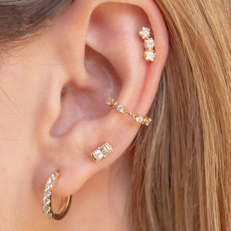 Mina - Ear Cuff 925 Silber