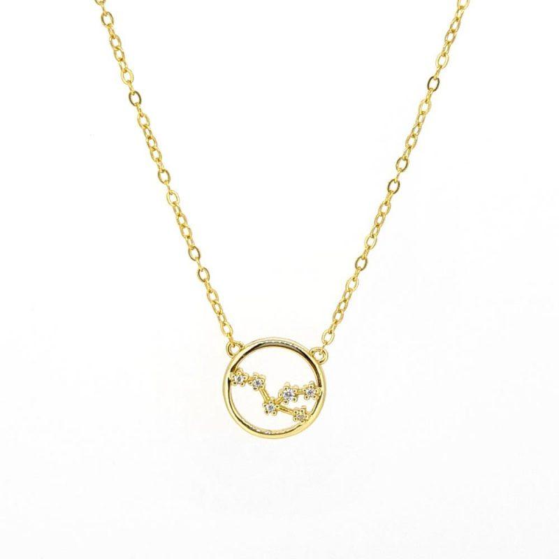 Crystal Zodiac - 925 Silber/vergoldet