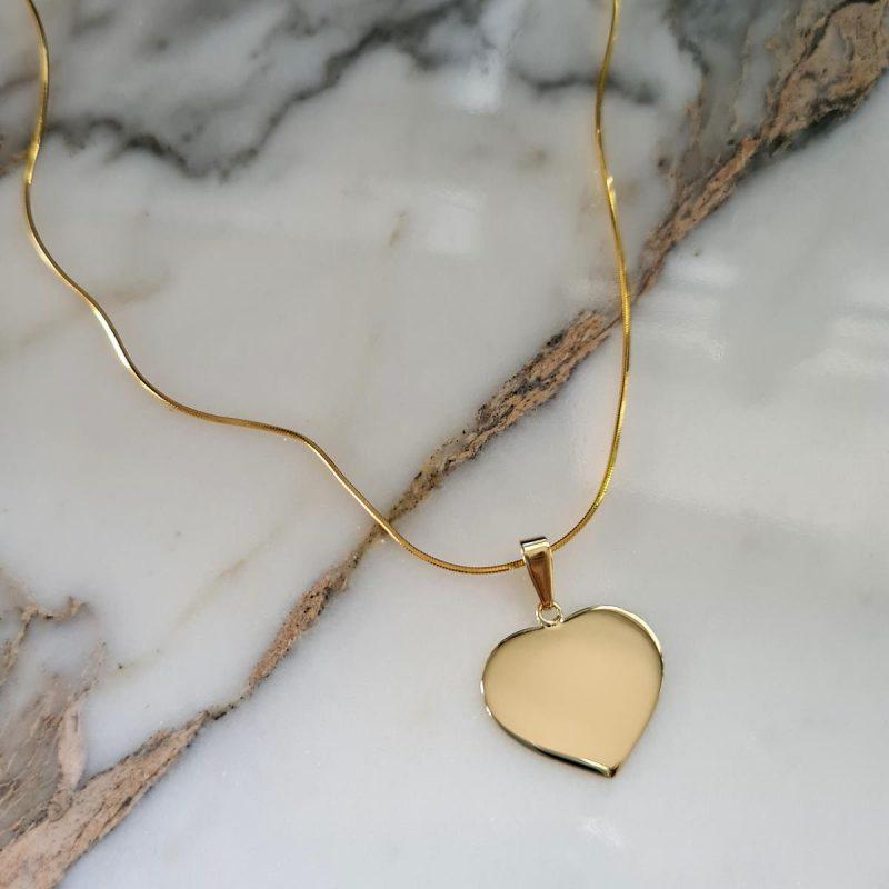 Golden Heart - Gravurkette 18 kt.